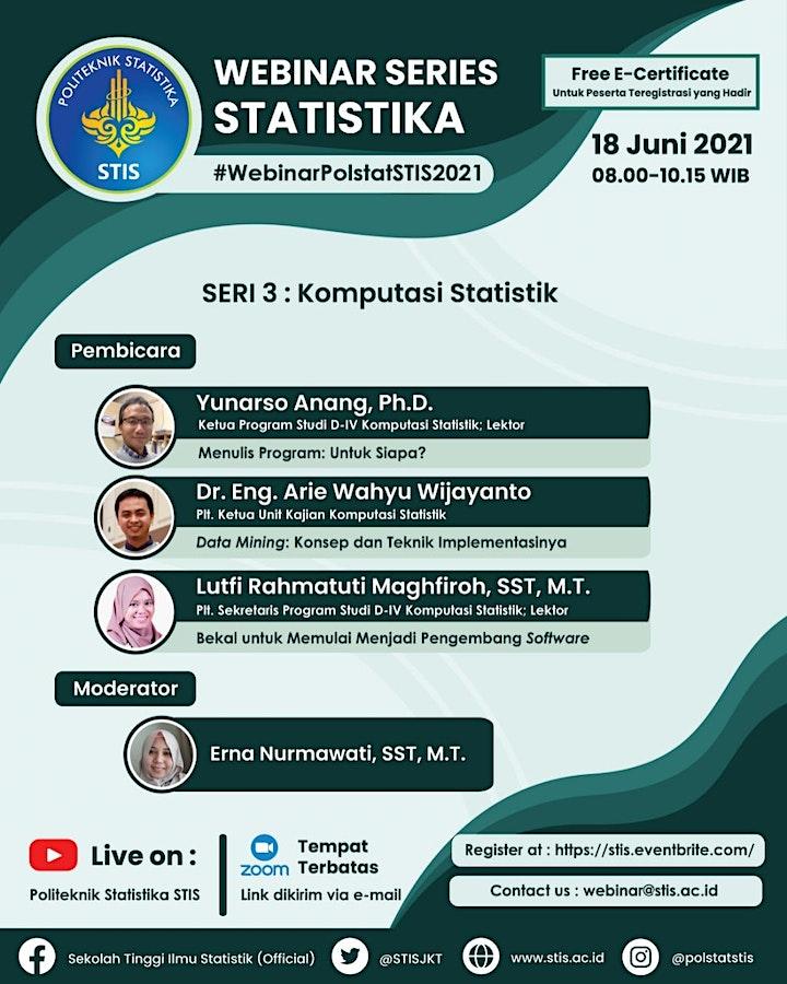 Webinar Series Statistika 2021 #3 | Komputasi Statistik image