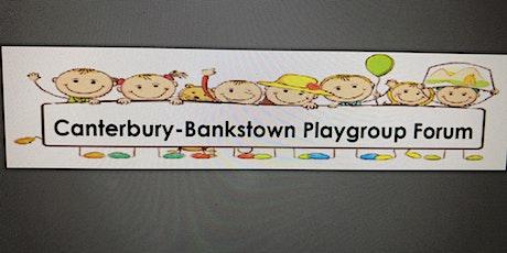 Canterbury Bankstown Playgroup Forum - July 2021 tickets