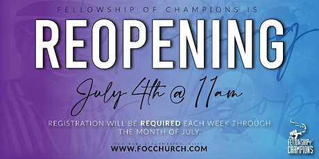 FOC Post Coivd-19 Grand Reopening tickets
