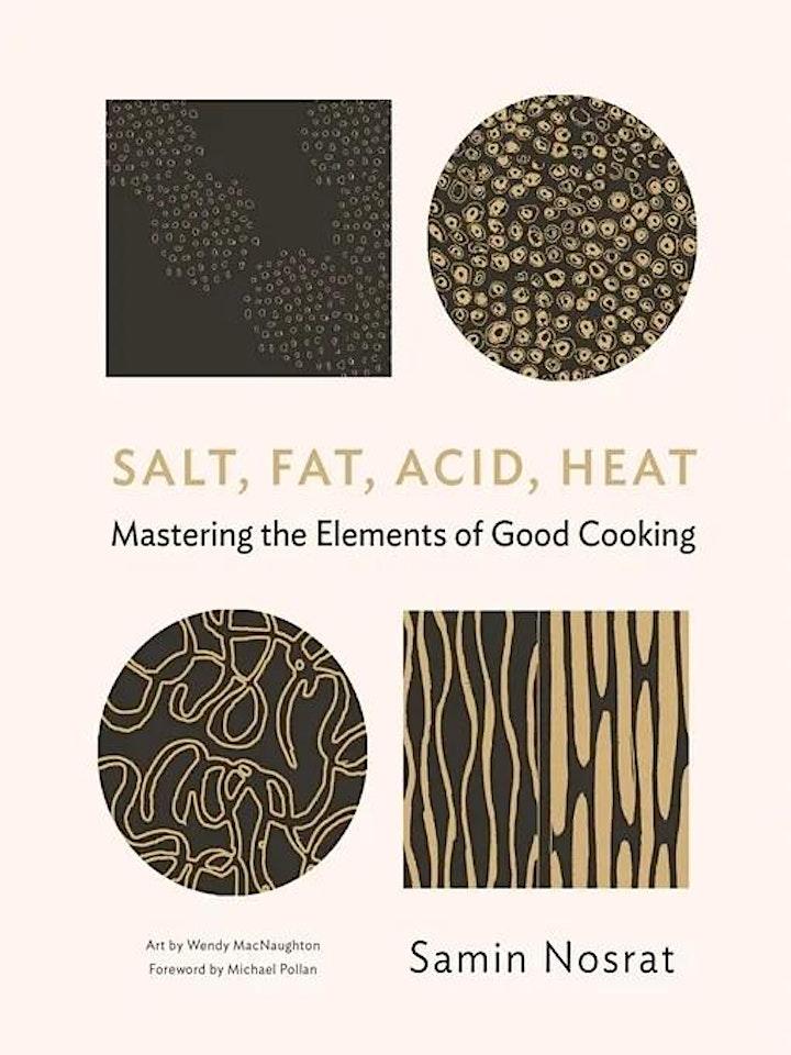 INTERPRETED: Salt, Fat, Acid, Heat by Samin Nosrat | Read! Fest image