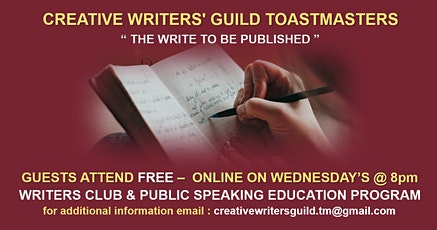 The Creative Writers Guild - Speakers & Writers Club tickets