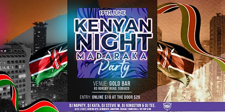 KENYAN NIGHT - MADARAKA PARTY tickets