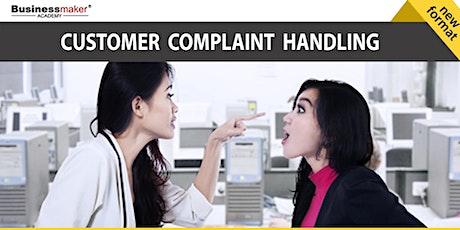 Live Webinar: Customer Complaint Handling tickets
