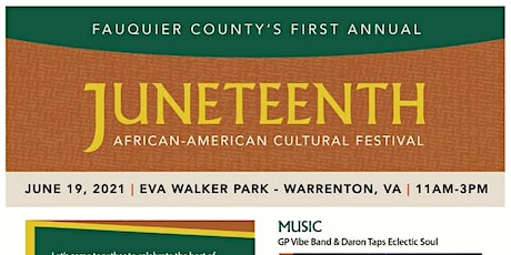 Fauquier County's First Annual Juneteenth Celebration tickets