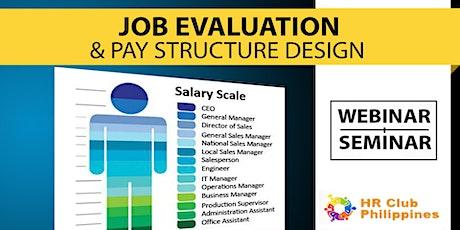 Live Webinar: Job Evaluation & Pay Structure Design tickets