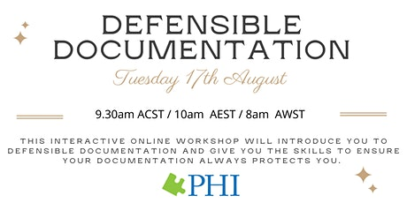 Defensible Documentation for Aged Care Staff - ONLINE tickets