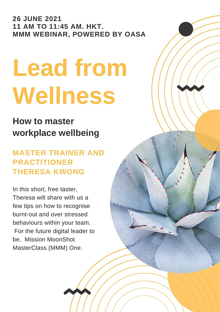 """OASA MMM June Taster: """"Live Well, Work Well"""" - Leading from Wellness image"""