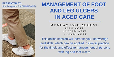 Management of Foot and Leg Ulcers In Aged Care tickets