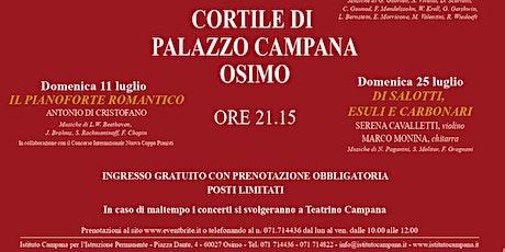 Incontri Musicali d'Estate, XXXI edizione - DI  SALOTTI, ESULI  E CARBONARI biglietti
