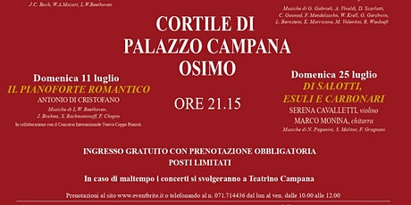 Incontri Musicali d'Estate, XXXI edizione - IL PIANOFORTE ROMANTICO biglietti