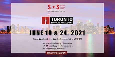 STUDY and WORK: Toronto School of Management (TSOM) tickets