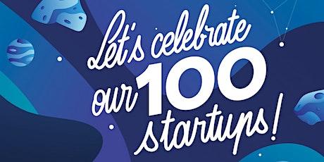 Let's Celebrate our 100 startups ! billets