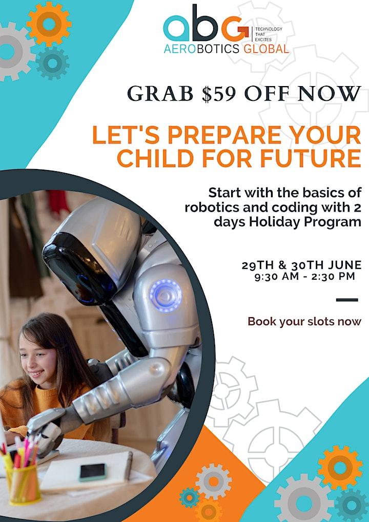 Robotics and Coding 2 Days Holiday Programs For Kids image
