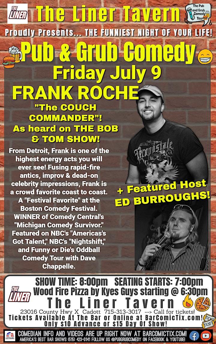 Cadott, WI | Pub & Grub Comedy with Frank Roche + Ed Burroughs! image