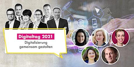 Digitaltag 2021. Datenland Deutschland. Innovativ denken. Zukunft gestalte Tickets