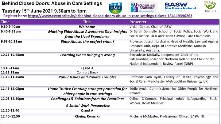 Behind Closed doors:   Abuse In Care Settings image
