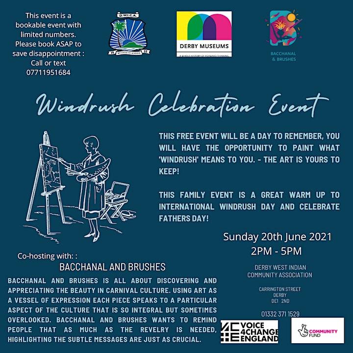 DWICA  Windrush Day Celebration community Painting Workshop image