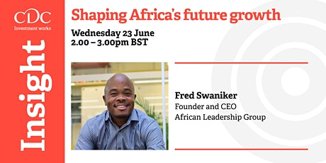Shaping Africa's future growth tickets