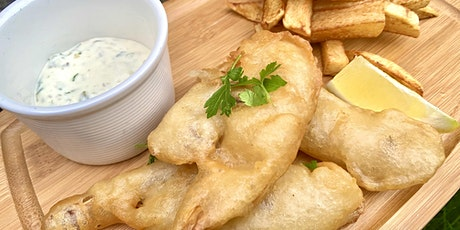 """Banana Blossom """"Fish"""" & Chips - Plant Based Cooking Classes tickets"""