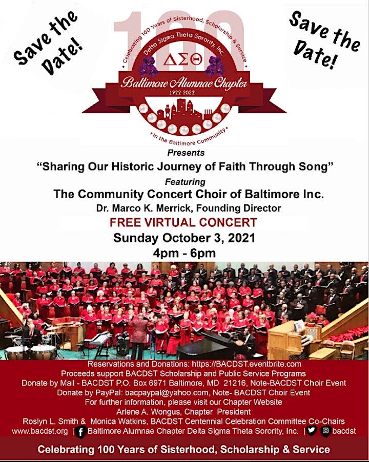 Baltimore Alumnae Chapter, Delta Sigma Theta, Centennial Choir Event image