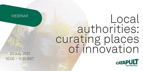 Local authorities: curating places of innovation tickets