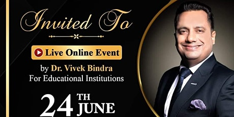 Live Online Event By Dr. Vivek Bindra For Educational Institutions entradas