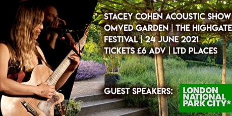 Stacey Cohen - Acoustic Garden concert at Omved Gardens, Highgate tickets