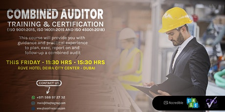 Combined Auditor Training Course (ISO 9001, ISO 14001 and ISO 45001) tickets
