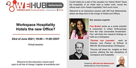 Workspace Hospitality - Hotels the new Office? tickets