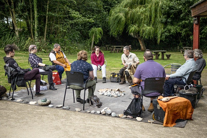 Flintknapping Workshop for 8 - 14 year olds with Dr James Dilley image