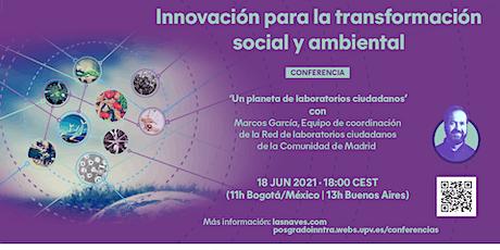 Conferència 'Un planeta de laboratorios ciudadanos distribuidos' entradas