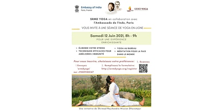Online Yoga Session presented by SRMD Yoga with The Embassy of India, Paris tickets