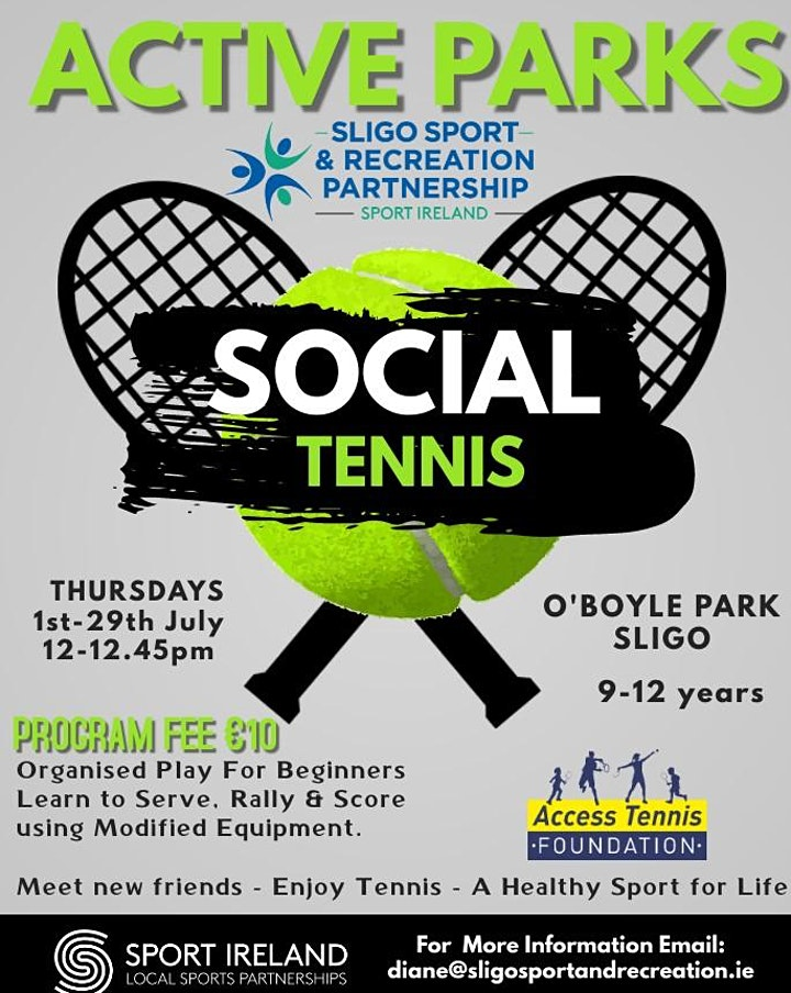 Social Tennis for 9-12years at O'Boyle Park image