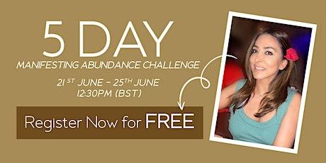 5 DAY MANIFESTING ABUNDANCE CHALLENGE entradas