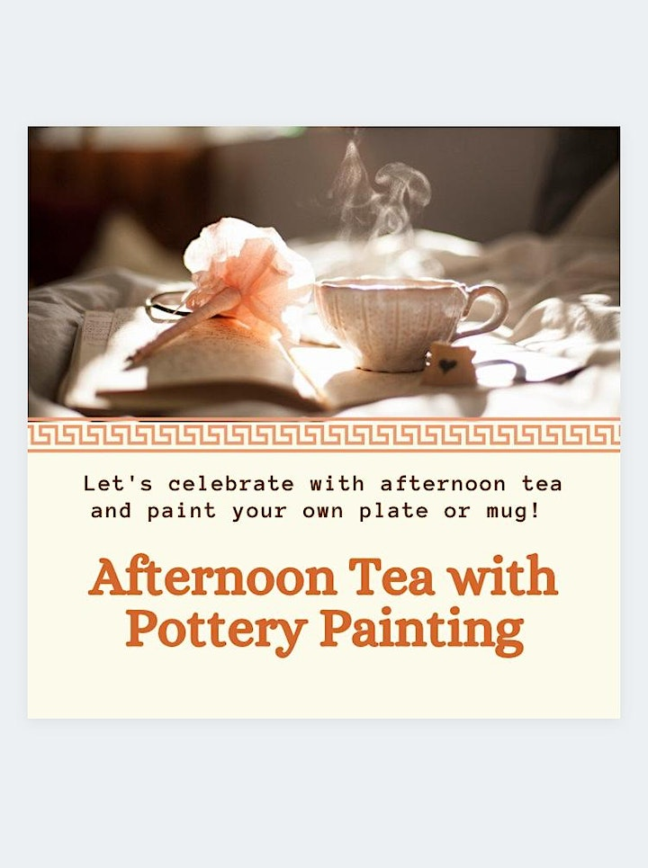 Afternoon Tea with Pottery Painting image