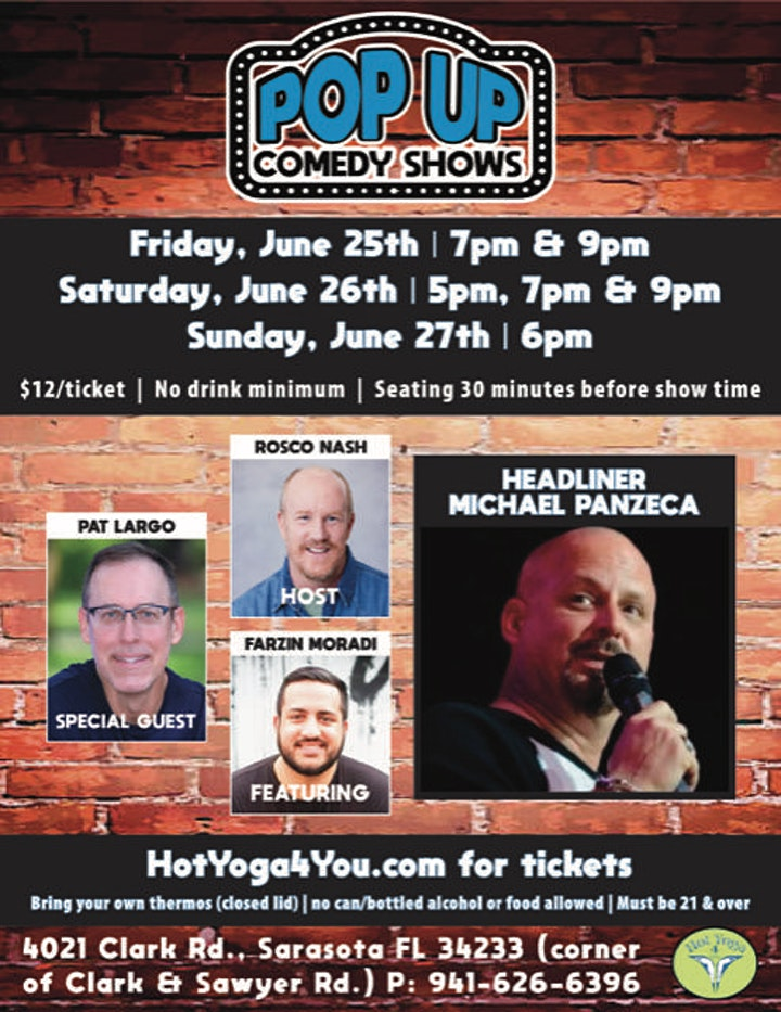 Pop Up Comedy Shows | June 25th, 26th & 27th image