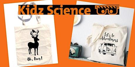 Kidz Science presenteert: Plotter…bedruk zelf een tas tickets