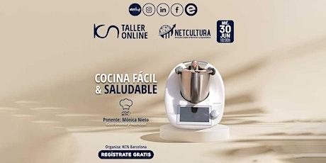 Taller Online Cocina fácil y saludable 30 Jun entradas