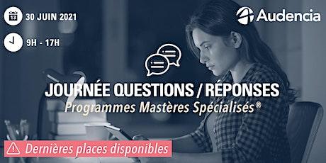 Journée Questions / Réponses   -   Mastères Spécialisés® billets