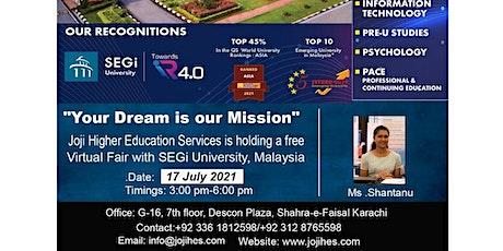 Virtual Fair with SEGi University tickets