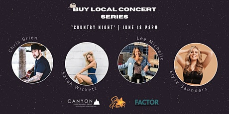 STAR Pow-R 'Buy Local' Concert Series - Country Showcase- Donation tickets