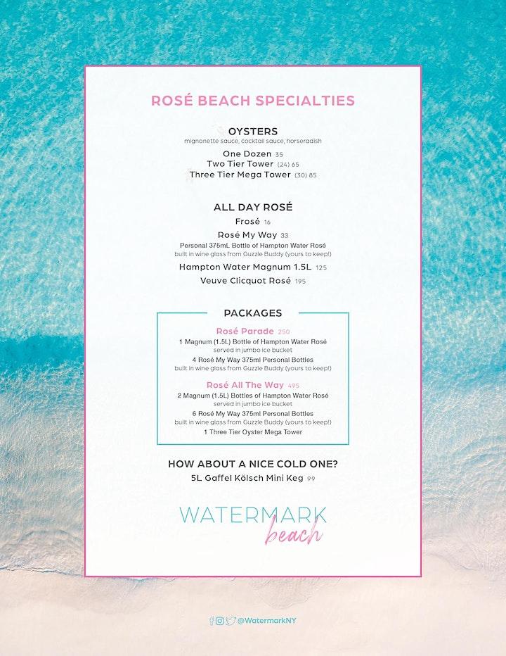 "SUNDAY ""ROSÉ BEACH BRUNCH"" & SUNSET SESSIONS @ WATERMARK BEACH w/DJ's image"