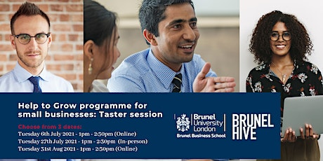 Brunel Business School programme for small businesses: Information session tickets