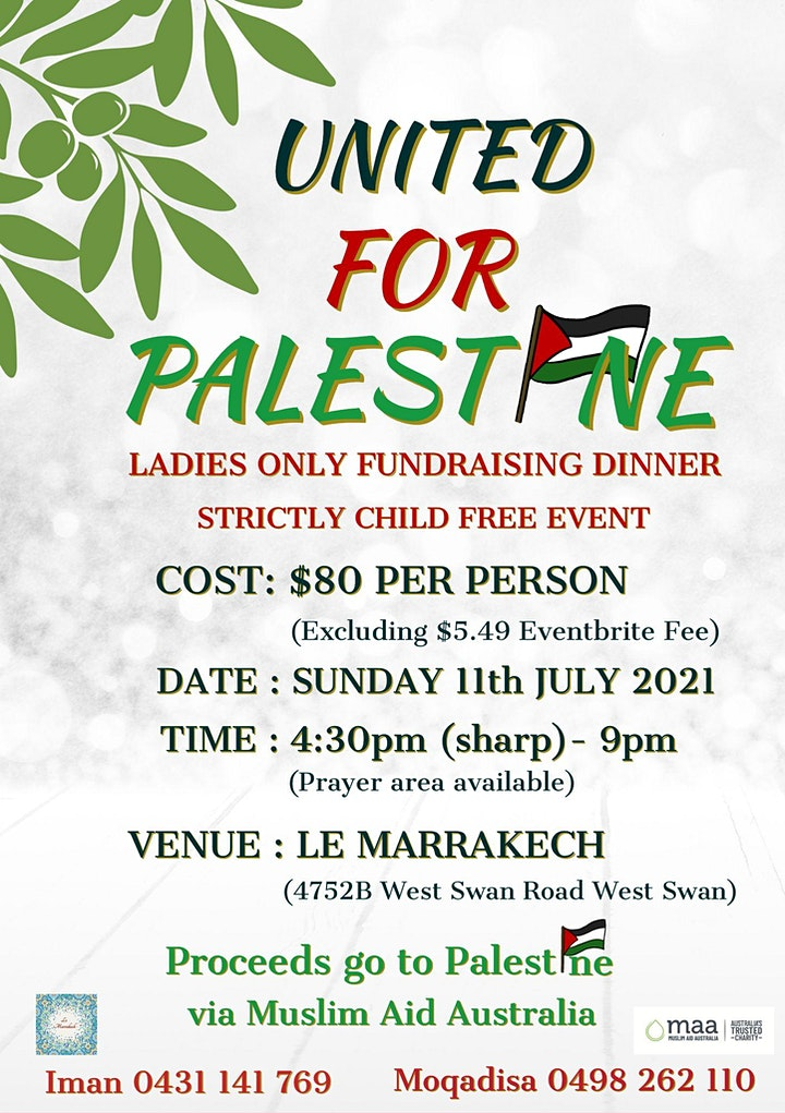 United for Palestine Ladies Only Fundraising Dinner image
