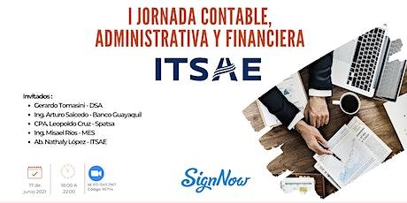 I Jornada Contable, Administrativa y Financiera - ITSAE entradas
