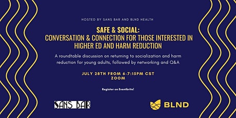 Safe & Social: A roundtable on harm reduction in higher education tickets