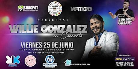 HOUSTON en concierto con el gran Salsero WILLIE GONZALEZ este 25 de junio tickets