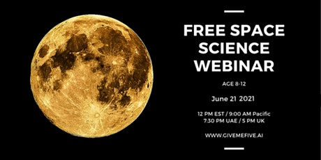 Space Science Webinar for Kids (8-12 years) tickets