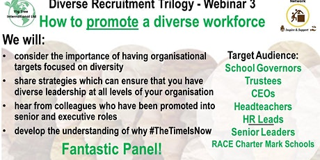 Diverse Recruitment Trilogy Webinar 3 - How to PROMOTE a diverse workforce tickets