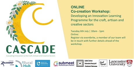 ONLINE Co-creation Workshop:  Innovation Programme for Creative Sectors tickets